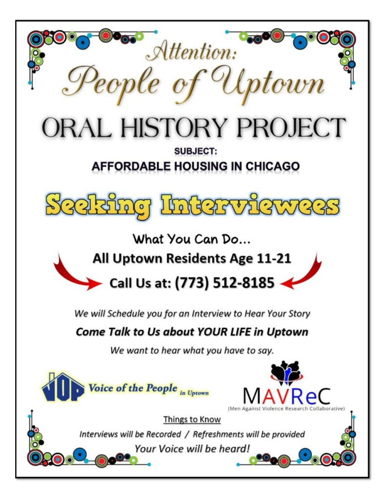 Oral History Uptown