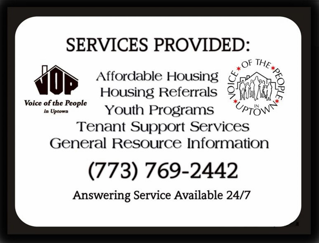 VOP Services Provided